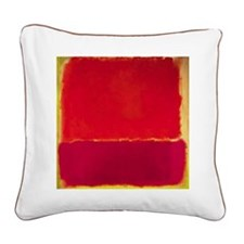 ROTHKO RED PINK YELLOW Square Canvas Pillow
