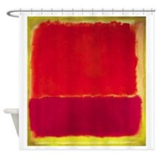 ROTHKO RED PINK YELLOW Shower Curtain