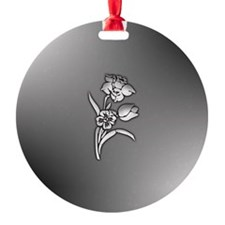 White Mother of Pearl Flower Ornament