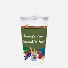 Custom Teacher Acrylic Double-wall Tumbler
