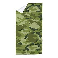 Green Camo Pattern Beach Towel