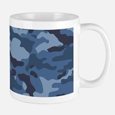 Blue Camo Pattern Small Small Mug