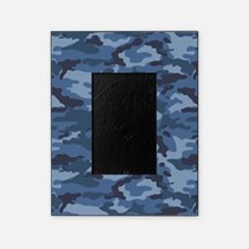Blue Camo Pattern Picture Frame