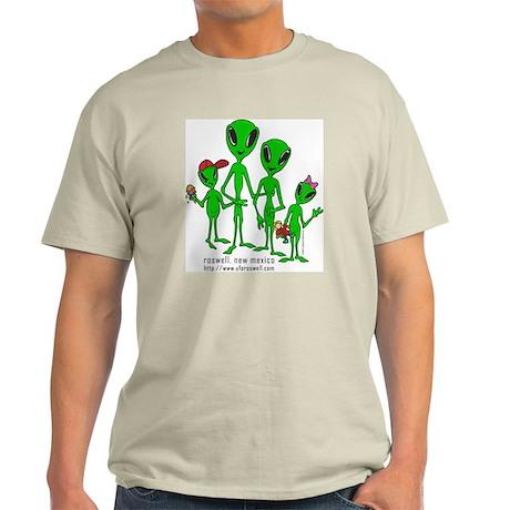 Roswell Alien Family Ash Grey T-Shirt