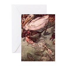 Alice's Pool of Tears Greeting Cards (Pk of 10