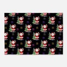 Santa Clause Christmas 5'x7'Area Rug