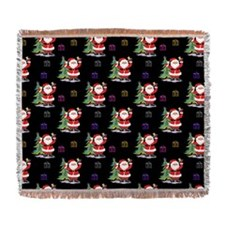 Santa Clause Christmas Woven Blanket