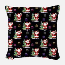 Santa Clause Christmas Woven Throw Pillow