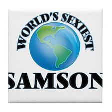 World's Sexiest Samson Tile Coaster
