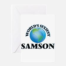 World's Sexiest Samson Greeting Cards