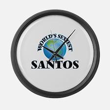 World's Sexiest Santos Large Wall Clock