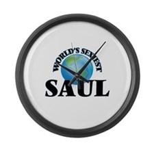 World's Sexiest Saul Large Wall Clock