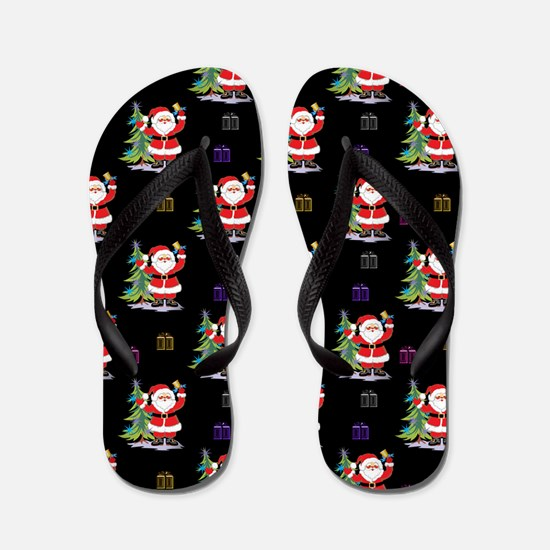 Santa Clause Christmas Flip Flops