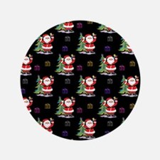 """Santa Clause Christmas 3.5"""" Button (100 pack)"""