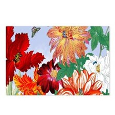 Dazzlin' Tulips, Dahlias, Postcards (Package of 8)