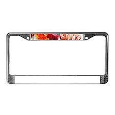 Dazzlin' Tulips, Dahlias, B'fl License Plate Frame