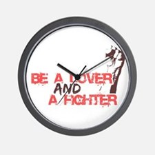 Lover and Fighter Wall Clock