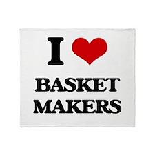 I love Basket Makers Throw Blanket