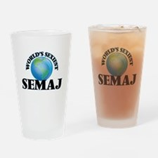 World's Sexiest Semaj Drinking Glass
