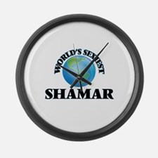 World's Sexiest Shamar Large Wall Clock