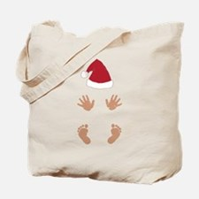 Baby Santas Hands and Feet Tote Bag