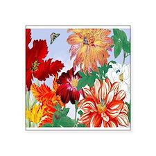 Dazzlin' Tulips, Dahlias, B'flies Sticker