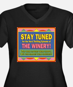 Stay Tuned - Winery Women's Plus Size V-Neck Dark