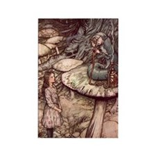 Alice and the Caterpillar Rectangle Magnet
