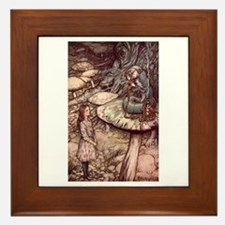 Alice and the Caterpillar Framed Tile