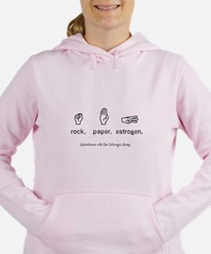 Rock. Paper. Estrogen. Women's Hooded Sweatshirt