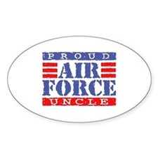 Proud Air Force Uncle Oval Decal