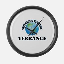 World's Sexiest Terrance Large Wall Clock