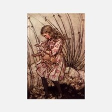 Rackham's Alice with Pig Rectangle Magnet