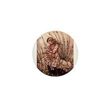 Rackham's Alice with Pig Mini Button