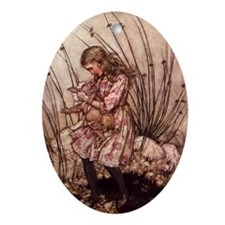 Rackham's Alice with Pig Oval Ornament