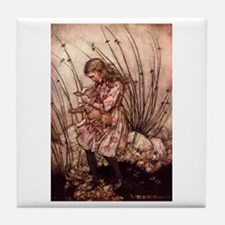 Rackham's Alice with Pig Tile Coaster