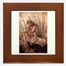 Rackham's Alice with Pig Framed Tile