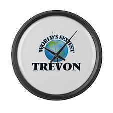 World's Sexiest Trevon Large Wall Clock