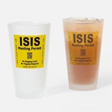 Isis Hunting Permit Drinking Glass