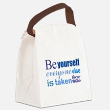 Be Yourself Canvas Lunch Bag