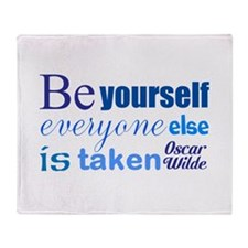 Be Yourself Throw Blanket