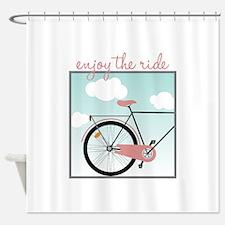 Enjoy The Ride Shower Curtain