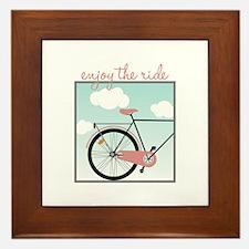 Enjoy The Ride Framed Tile