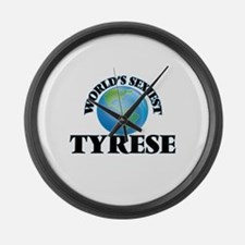World's Sexiest Tyrese Large Wall Clock