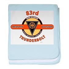 83RD INFANTRY DIVISION THUNDERBOLT baby blanket