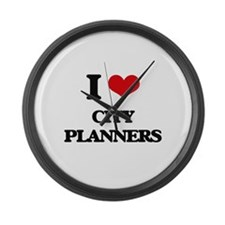 I love City Planners Large Wall Clock