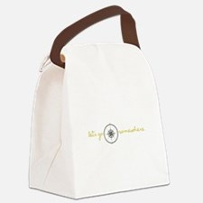 Go Somewhere Canvas Lunch Bag