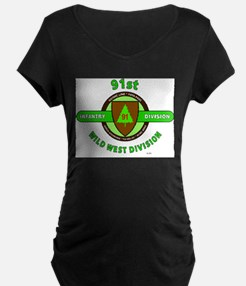 91ST INFANTRY DIVISION, WILD WES Maternity T-Shirt