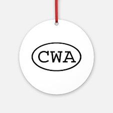 CWA Oval Ornament (Round)