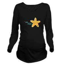 Make A Wish Long Sleeve Maternity T-Shirt